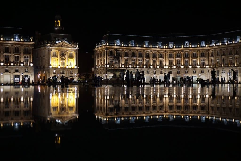 The water mirror. Bordeaux, France