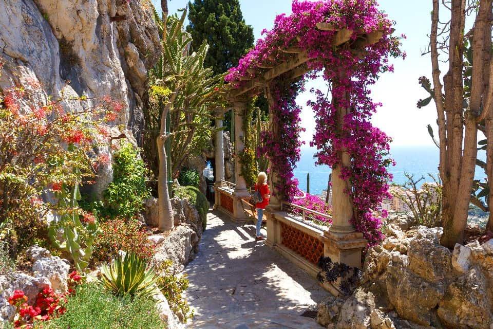 Exotic gardens in Monaco, France