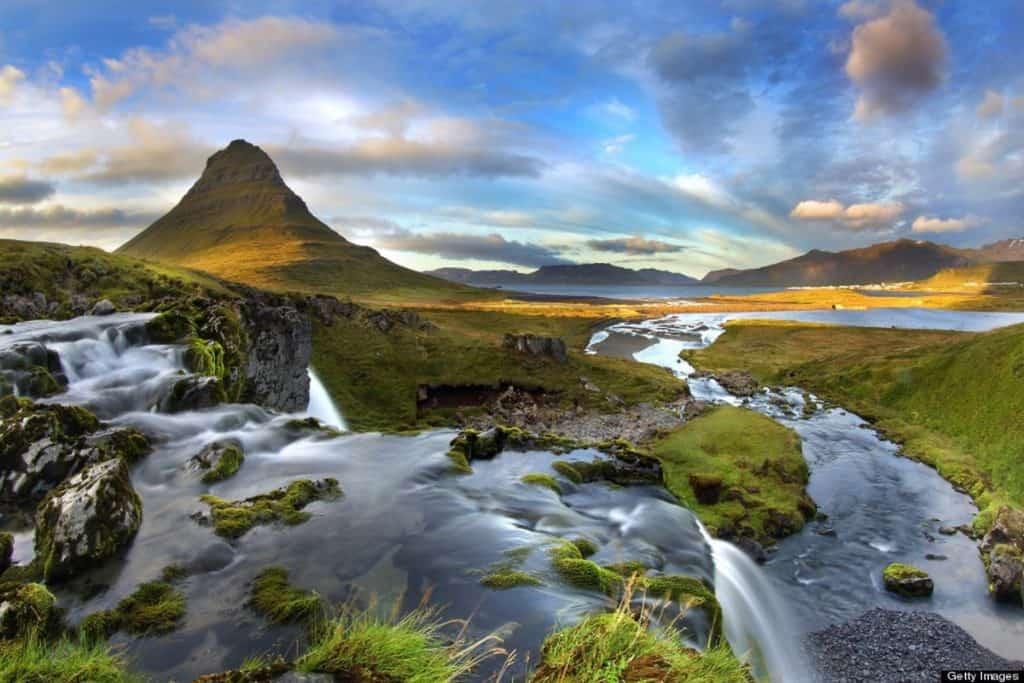 Mount Kirkjufell and Grundarfjördur, Iceland